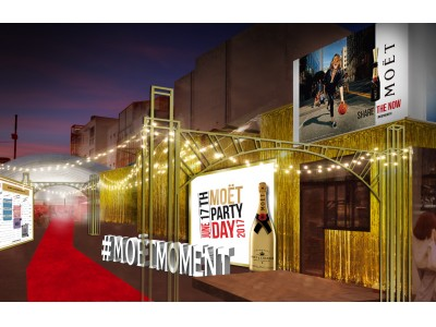 """世界50ヶ国以上で同日開催!6月17日、世界がモエ・エ・シャンドンの魔法にかかる """"MOET PARTY DAY TOKYO 2017""""開催決定"""