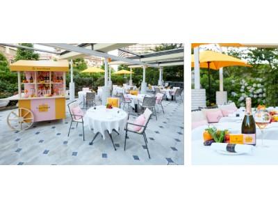 ラ ターブル ドゥ ジョエル・ロブション ガーデンテラス にてヴーヴ・クリコ ロゼ のコラボレーションを期間限定で展開!