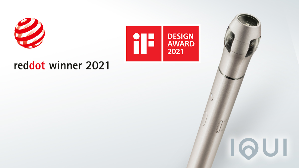 360度カメラIQUI[イクイ]がドイツの「レッド・ドット・プロダクトデザイン賞2021」と「iFデザインアワード」を受賞