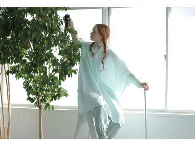 【ゴミの出ないモノづくりの循環型ファッション】nest Robeより「UpcycleLino(アップサイクルリノ)」のサスティナブルな新作シャツワンピースが発売