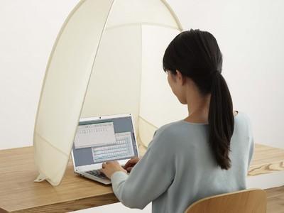 手軽に在宅ワークに集中できる空間を設置 テント型集中ブース「アットパット」を発売