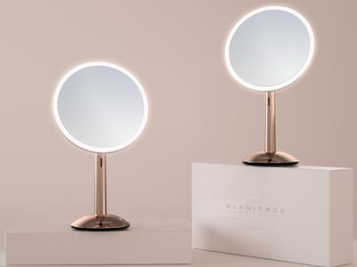 自然光を再現する、HI・BELLAライト付き化粧鏡「ガラミラー」5月6日より予約販売開始!