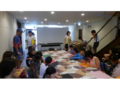 ペンキ画家SHOGENさんと絵を描こう!三重県四日市市にてペイントワークショップを開催