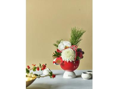 [ 青山フラワーマーケット]  令和初のお正月は、紅白の正月限定アレンジメントと、福を呼び込む花々で。