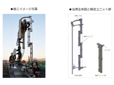 ポリマテリアル(R)充填工法がソフトバンクの基地局建設に採用されました