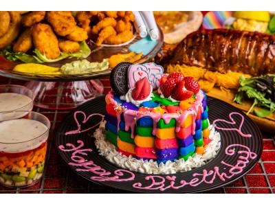 """【KAWAII MONSTER CAFE】""""おうちでカラフルパーティ""""が楽しめるセットが登場!迫力満点の「マンガ肉」や「カラフルフード」などテイクアウトで提供。店内も6/13(土)から営業再開!"""