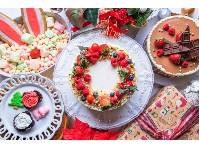 濃厚チョコレートケーキに王道ショートケーキ、一口バラケーキも…お城のパティシエが華麗に創り出す≪美スイーツ食べ放題≫「アリスのクリスマスパーティビュッフェ」開催!