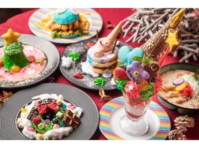 KAWAIIが溢れてる!「クリスマスプレゼントパフェ」や「カラフルレインボーラーメン」など限定メニューが登場♪「Happy Colorful Christmas」開催