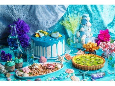 ハートの女王様のお城が海に!? 海の仲間とひんやり涼しいティーパーティ! 「クイーンマーメイドからの招待状~不思議の国のSea Party スイーツビュッフェ~」開催!