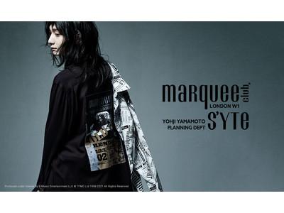 英国ロンドンの伝説的ライブハウス「マーキー・クラブ(R)」と、ヨウジヤマモトのオフィシャルECサイト限定ブランド「S'YTE(サイト)」とのコラボコレクションが発売