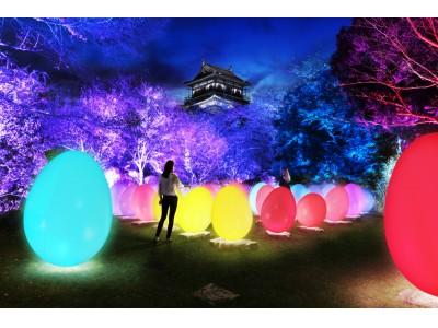 「チームラボ 広島城 光の祭」2月8日(金)から開催。日本三大平城の一つである広島城を、インタラクティブな光のアート空間に。12月15日(土)より前売り券を販売開始。