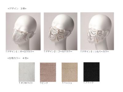 【アパレル専門店のコックス】2020年11月18日(水)より、「Mask.com」にてダイヤモンドとパールを使用した100万円のファッションマスクを発売!