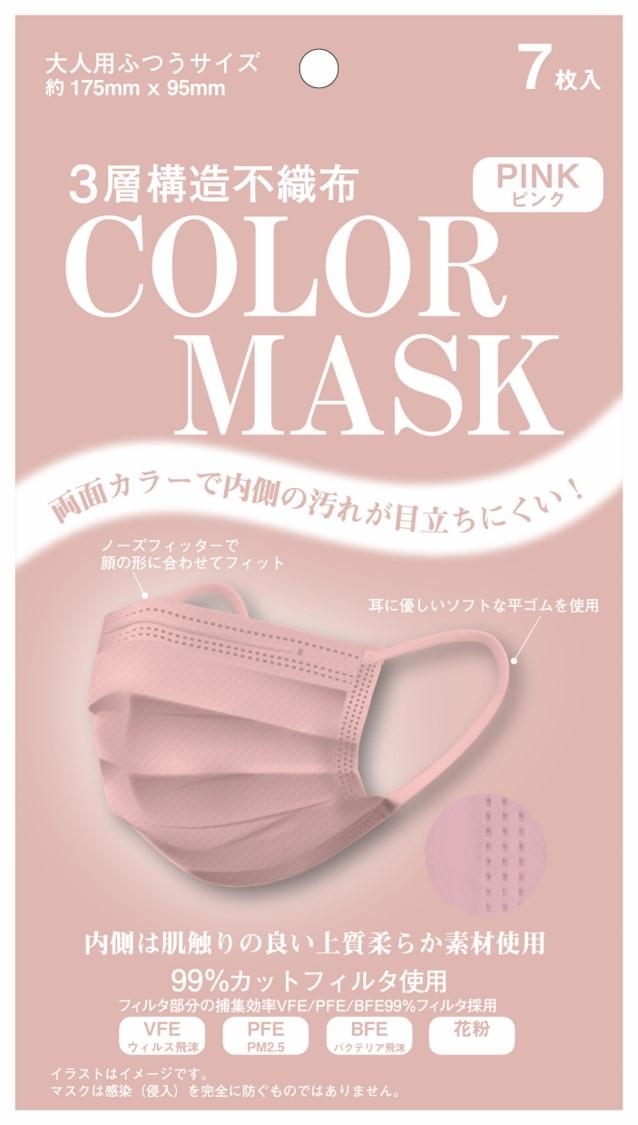 毎日のスタイリングに合わせたカラーコーディネートを楽しめる3層構造不織布マスク「COLORMASK」... 画像