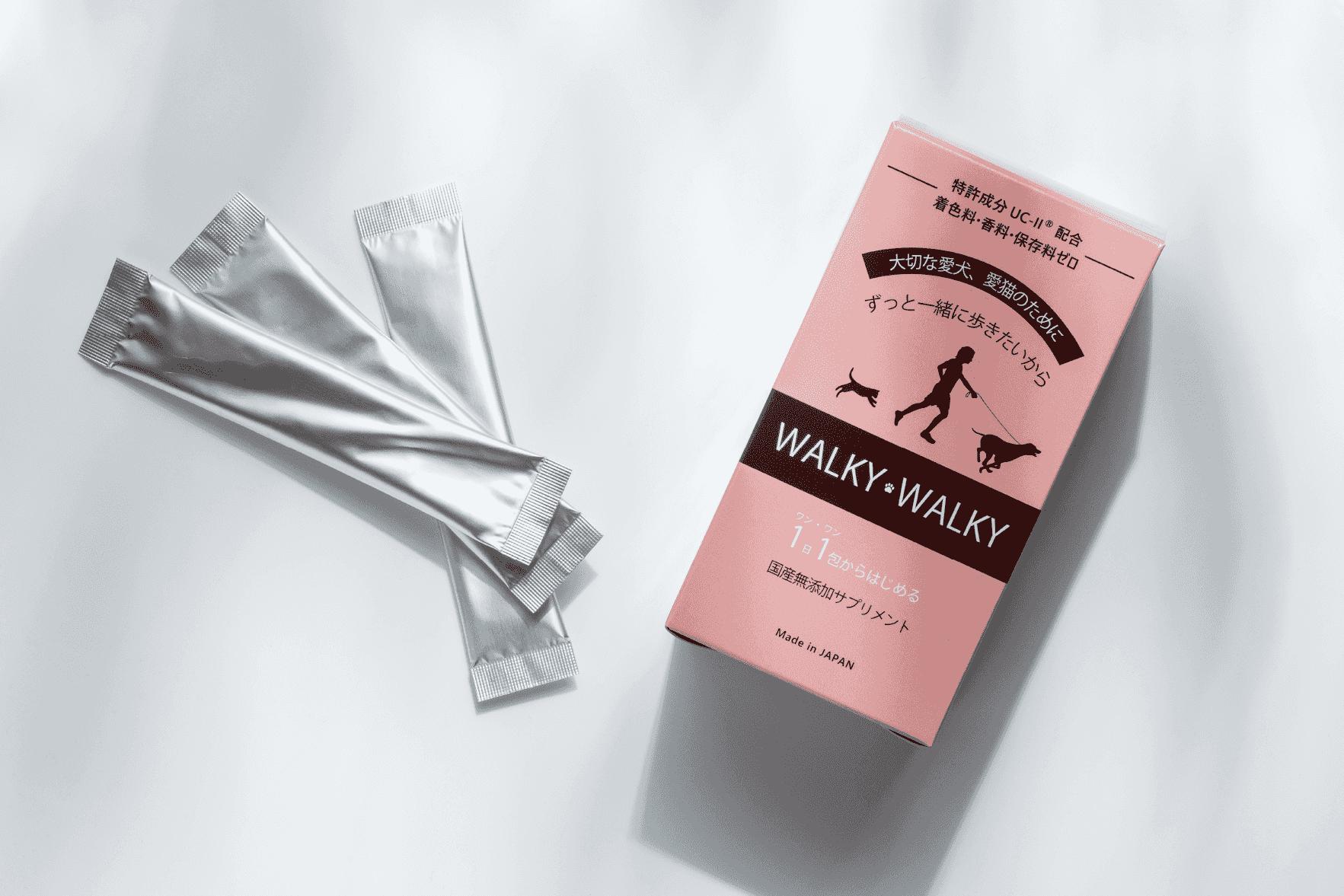 愛犬のトラブル上位、関節脱臼に悩む飼い主様へ。「WALKY WALKY特別セット」を ワンOne dayで限定発売