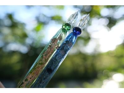 唯一無二のドライフラワー入りガラスペン「六花・月朧」が7/29(木)Makuakeにて数量限定・先行販売開始。
