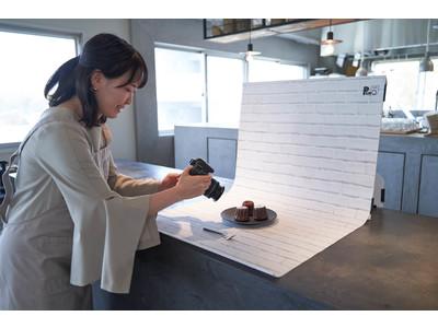 30秒でセット可能な新しいカタチの撮影キット「ピノスタジオ」が新しいシート柄を発売