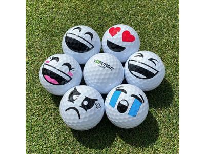 【新商品】SNS映えする可愛い笑顔(女子)のゴルフボール&キーホルダーと着せ替えができる専用サンバイザー・仮面を新発売!