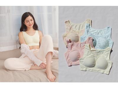 育乳ブラのオーソリティ『glamore(グラモア)』が、ナイトブラをリニューアル!      「美乳deナイトブラ」新色、新柄が新登場!4月16日からネット予約開始。