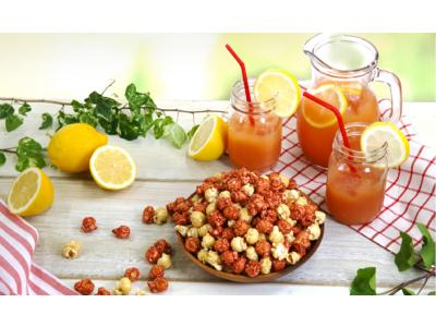 ポップコーンは甘い・しょっぱいだけでない!初夏にぴったりの爽やかな酸味がたっぷりの新レシピ『ピンクレモネード』6月25日(金)より新発売!