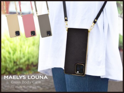 "【MAELYS LOUNA(マエリスルーナ)】女性に人気の""Cross Body Case""にiPhone11 / iPhone11 Pro対応モデルが新登場☆"