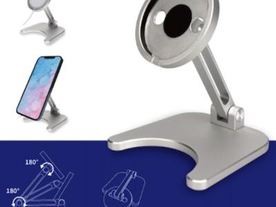 オウルテック、MagSafeを装着して使用するiPhone12シリーズのワイヤレス充電スタンドを発売