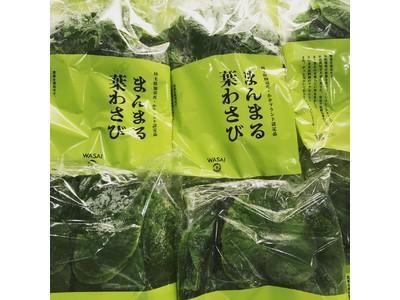 夏を愛で、涼を呼ぶ使えば使うほど美味しさも便利さも深まる、新鮮野菜「まんまる葉わさび」がぴりっと新発売です。