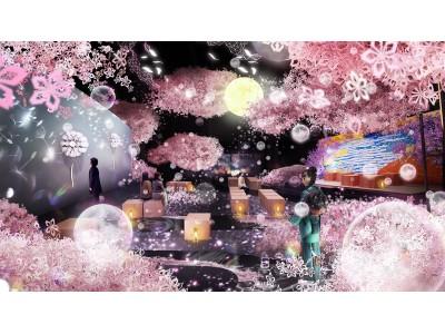 【ネイキッドの日本一早いお花見がイマーシブに進化「FLOWERS BY NAKED」360度桜彩空間イメージ公開】花、伝統×革新をテーマに1/29~3/3日本橋三井ホールで開催