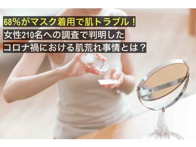 68%がマスク着用で肌トラブル!女性210名への調査で判明した、コロナ禍における肌荒れ事情とは?