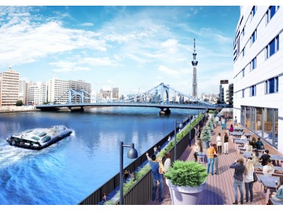 「LYURO東京清澄-THE SHARE HOTELS-」4/14(金)グランドオープン|都内最大規模、都内初*となるまちに開放された川床(かわゆか)が誕生