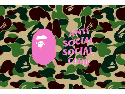A BATHING APE(R) x ANTI SOCIAL SOCIAL CLUB(R)