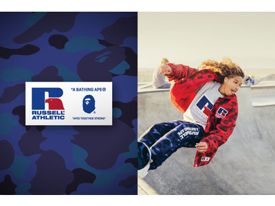 A BATHING APE(R) × RUSSELL ATHLETIC(R)