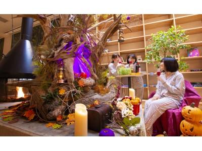 異色コラボが実現!?おふろcafe utataneでPEACH JOHNのルームウエアを着て過ごすハロウィンお風呂パーティーが開催中!