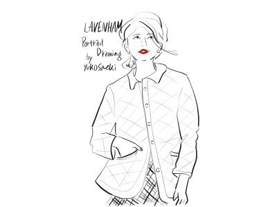 ラベンハム先行予約会開催に合わせイラストレーター佐伯ゆう子氏による「LAVENHAM Portrait Drawing by Yuko Saeki」を8月4日BRITISH MADE 銀座店にて開催