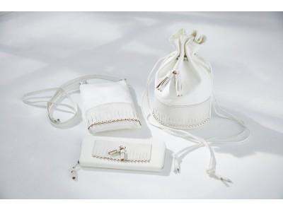 「GLENROYAL meets CRAFTSPEOPLE」第二弾、H.KATSUKAWAとのコラボレーションによる純白のピッグスキンを使ったバッグや財布が新登場。