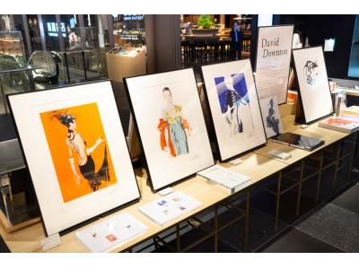 """【銀座 蔦屋書店】デヴィッド・ダウントンの世界初となるアートプリントを発売。デザインの本質を際立たせる""""ファッションイラストレーション""""に注目。"""