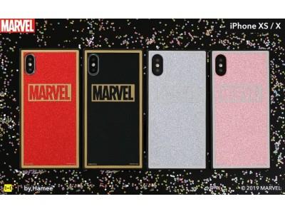 キラキラ輝くグリッターでちょっぴりスパイシーに!「MARVEL」ロゴデザインのスクエア型iPhoneケースが新登場
